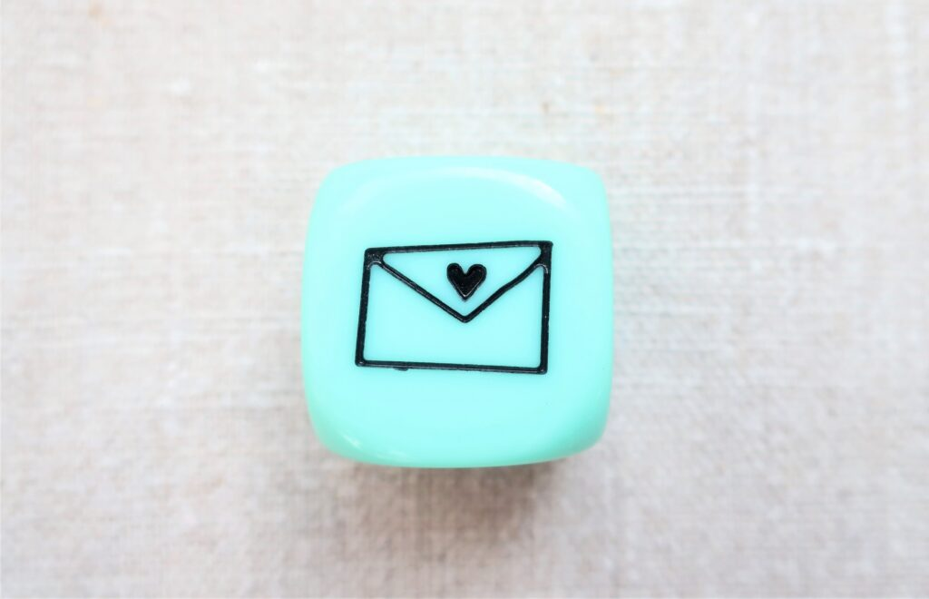 水色のメールのマーク