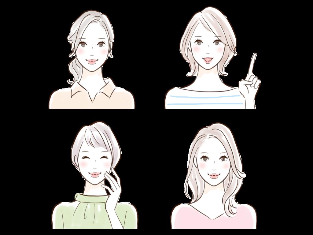 4人の女性のイラスト